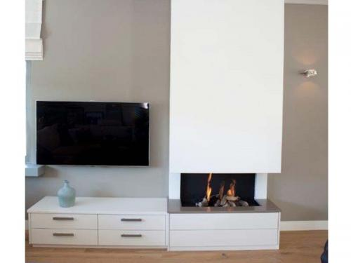 Openhaard en TV meubel op maat